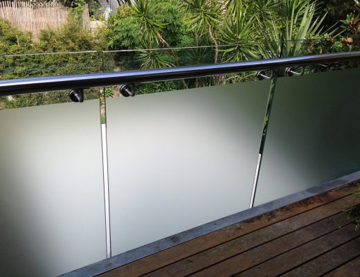 Residential Frosted balustrades